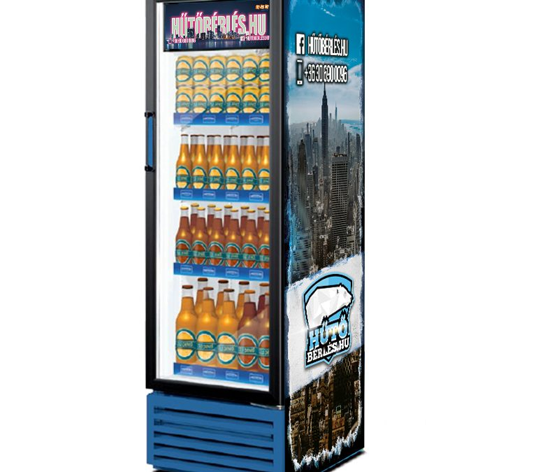 FV280 üvegajtós italhűtő