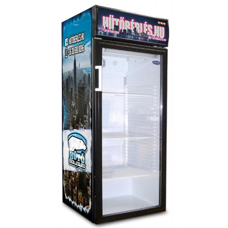 V290 üvegajtós italhűtő